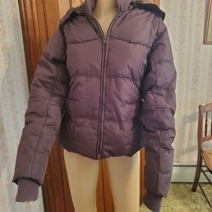 Dollhouse down puffer jacket, brown, Large